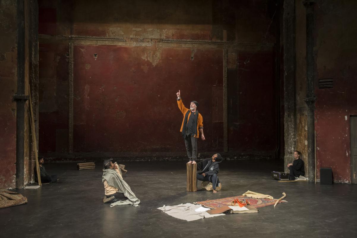 Tempest Project © Pascal Gely - Photo de repetition au Théâtre des Bouffes du Nord